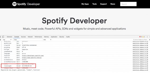 And the developer's page: (developer.spotify.com)