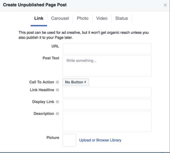 Create an unpublished post and run Facebook brand awareness ads to build up social proof.