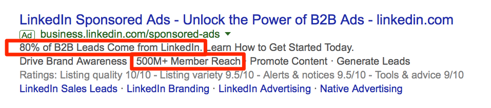 Putting your ad over the edge.