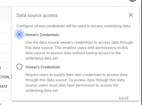 Choose Owner's or Viewer's Credentials.