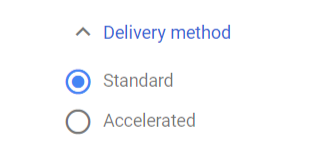 Delivery method setting