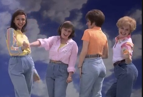 It's hard not to laugh at mom jeans.