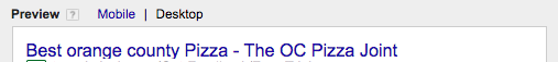 """Where """"Orange County"""" is the search term coming through, but as lower case."""