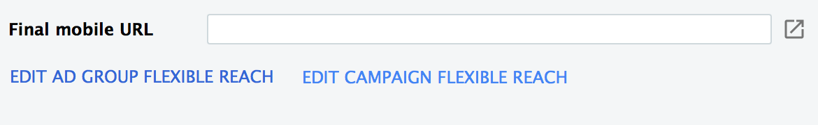 Edit your ad group flexible reach, unless you're lazy and went the campaign-level route. *sigh*