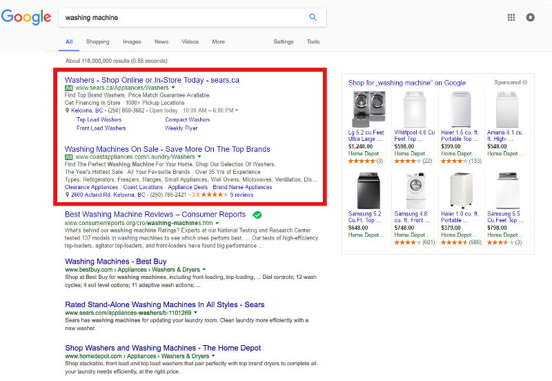 Ads are better displayed than the most trusted review source's organic rank.