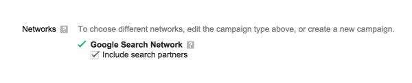 Go ahead and include search partners.