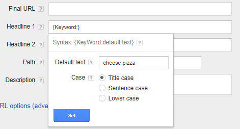 Choose between title case, sentence case or lower case for your ad copy.