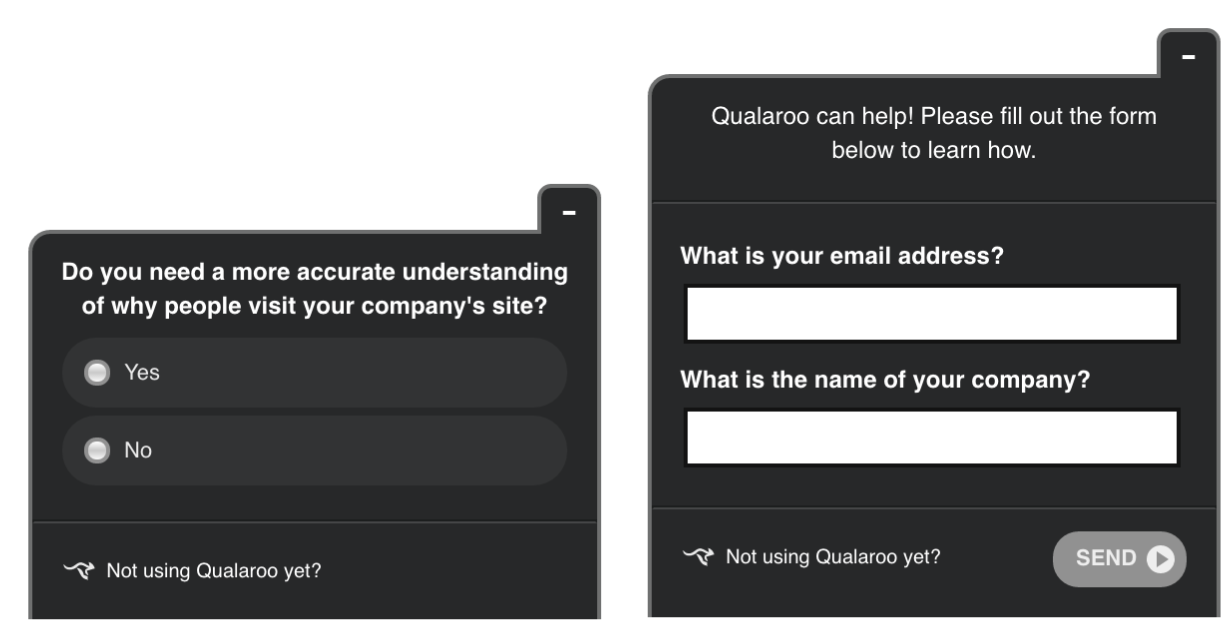 Example of Qualaroo forms