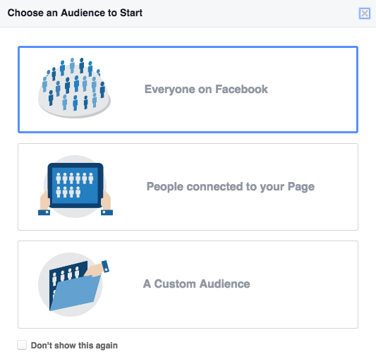 Audience Insights group selection