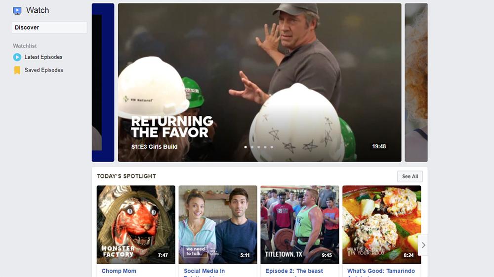 Facebook Watch: the newest online video platform.
