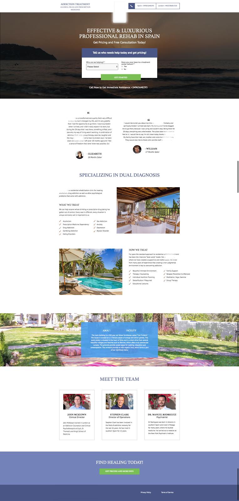 A client landing page built for success.