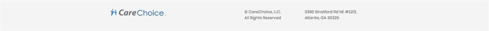 CareChoice footer section
