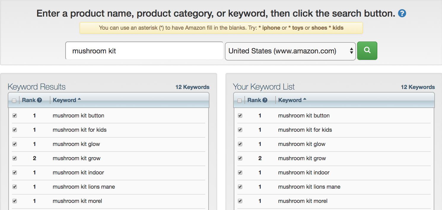 Keyword Tool Dominator's ranking list