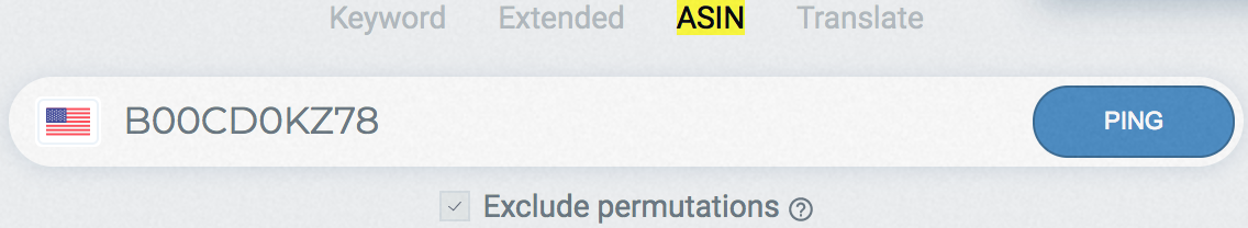 """Select """"ASIN"""" and enter the ASIN to begin the search."""