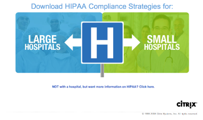 landing page best practices hospital looking for