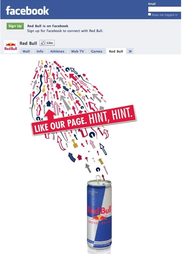 Red Bull landing page best practices