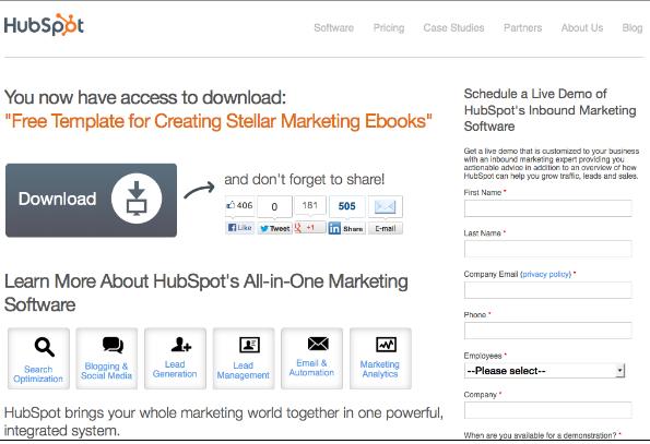 landing page best practices download button no surprises