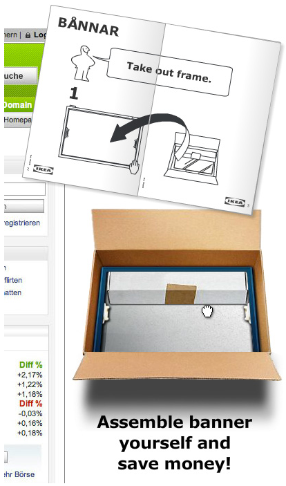 Typical interactive DIY Ikea assemblage, but this time online