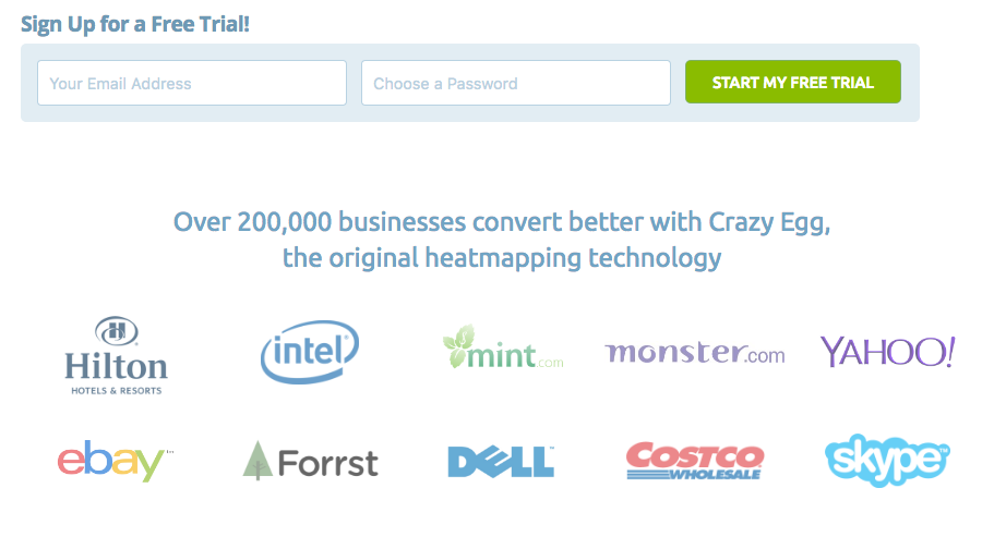 Well-known brands in a variety of verticals landing page best practices
