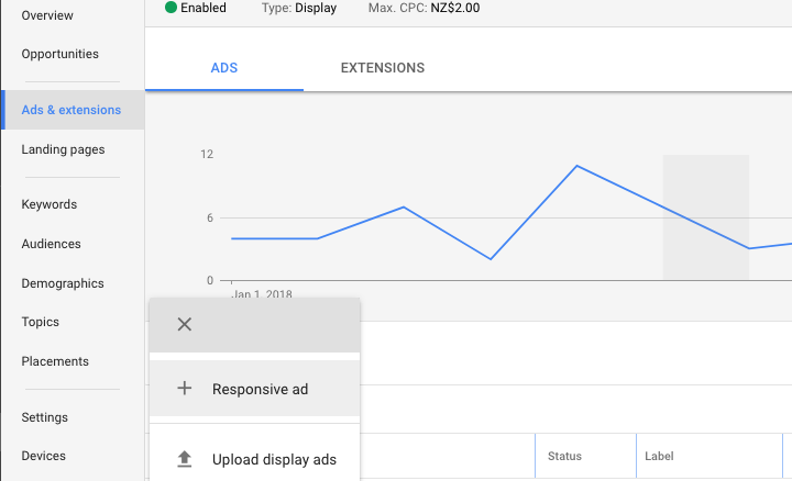 "Choose ""Responsive ad"" to create your ads through the AdWords interface."