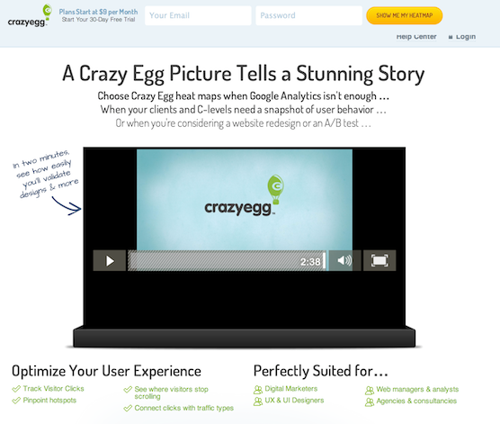 landing page best practices video is the star of the page.