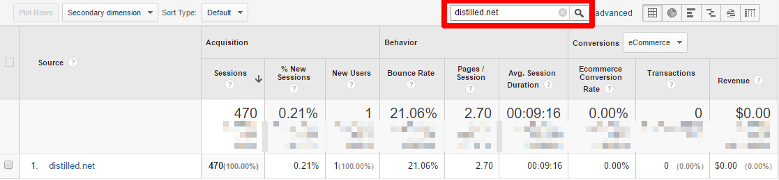 You shouldn't be seeing your own domain in referral reports.