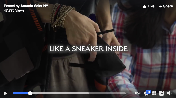 Antonia Saint New York's Video ad for their new high-tech heel