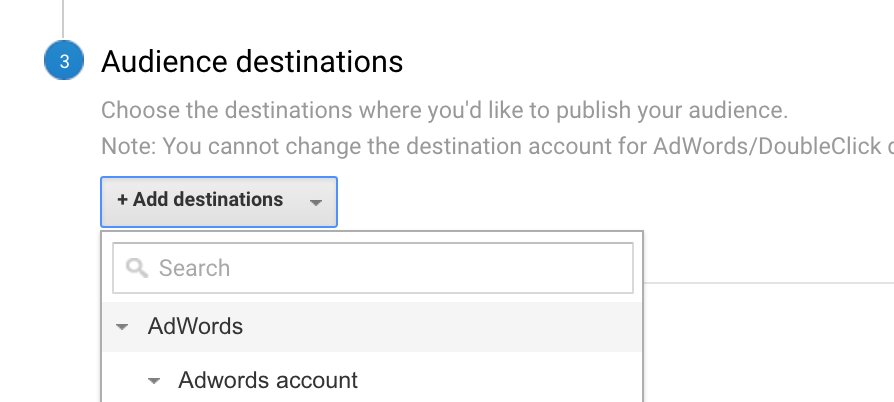 Send your audience over to AdWords.