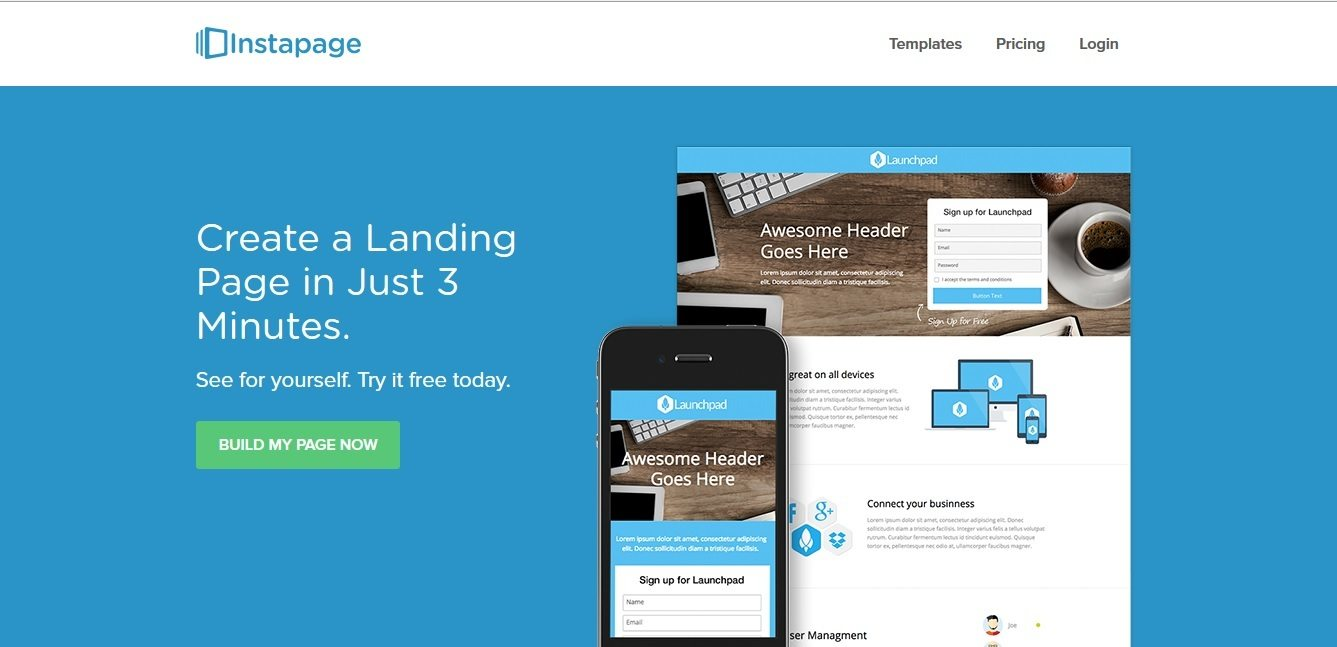 landing page inspiration that Definitely grabs your attention