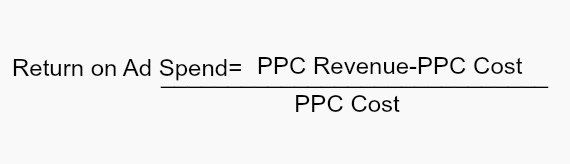 Formula for calculating ROAS (return on ad spend)