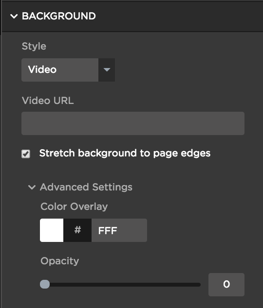 Simply add in the Video URL from YouTube, Vimeo, Wistia, etc.