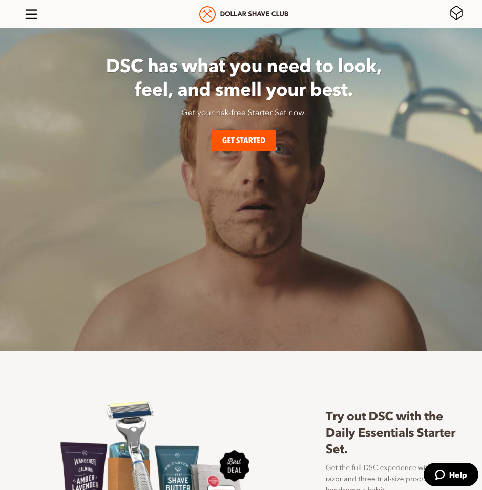 Dollar Shave Club does such a great job.