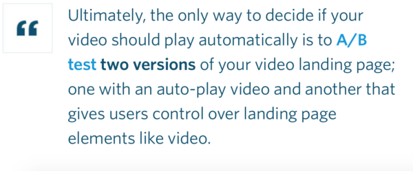 If you have a hunch autoplay is right for your audience, test it.