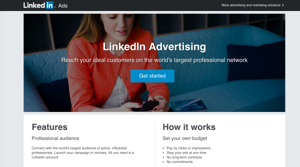 LinkedIn ads can target people with certain career titles.