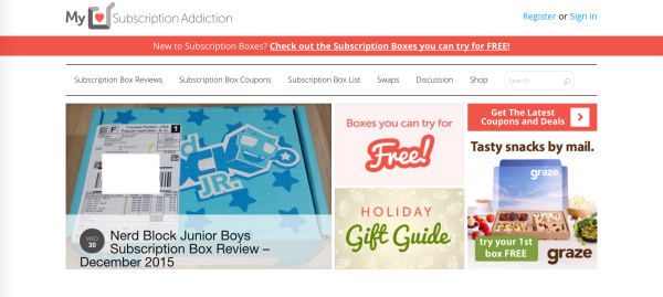 PPC marketing with MySubscriptionAddiction is a unique way to highlight products