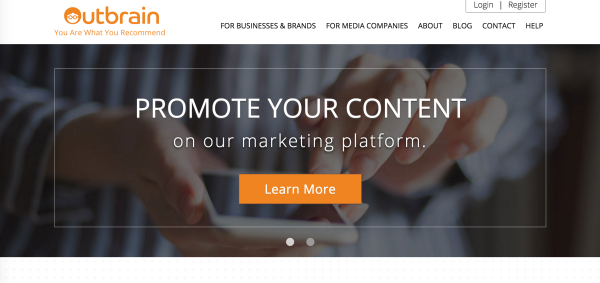 Outbrain reaches over a half a billion people globally each month.