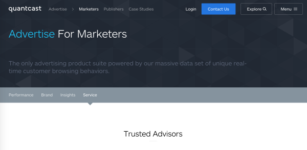 monitoring tools from Quantcast help you oversee your campaign to ensure you hit your performance goals.