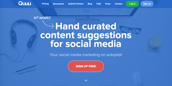 Use Quuu to automatically send hand curated content to your Buffer.com account.