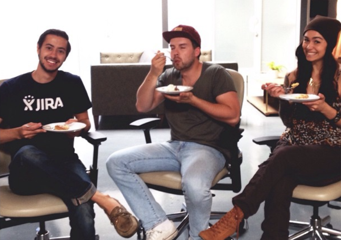 growing agency eating pie on pie day (03/14/2015)