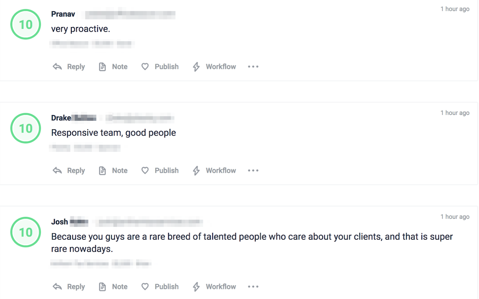 growing agency client feedback