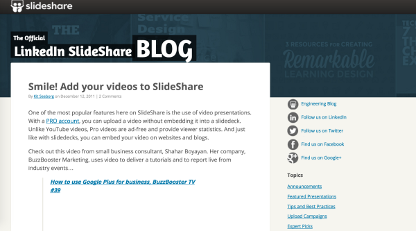 Add videos to your SlideShare to benefit from the ads in those videos.
