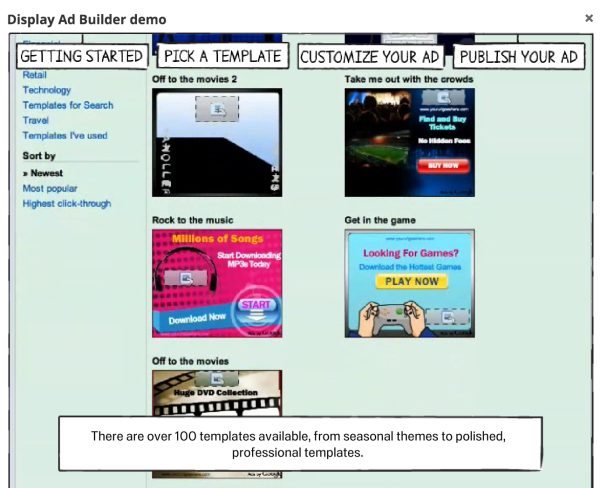 Here's what their demo looks like. Find the real thing within Google Ads.