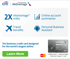 retargeting campaign American Airlines business card