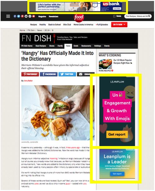Search Versus Display image 4: display ads example
