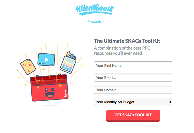 CRO Audit image 6: SKAGs Tool Kit example