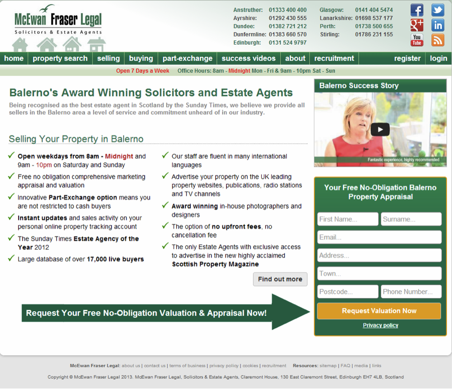 CRO Audit image 7: Overcrowded landing page example