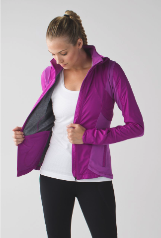 remarketing ad example: running jacket