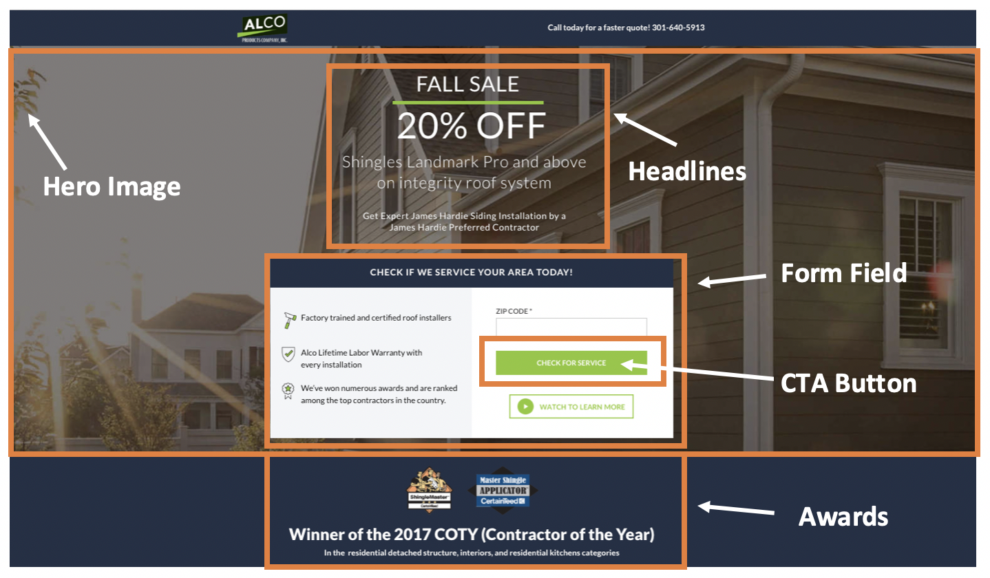 Differences Between Landing Pages Versus Home Pages Alco LP 4