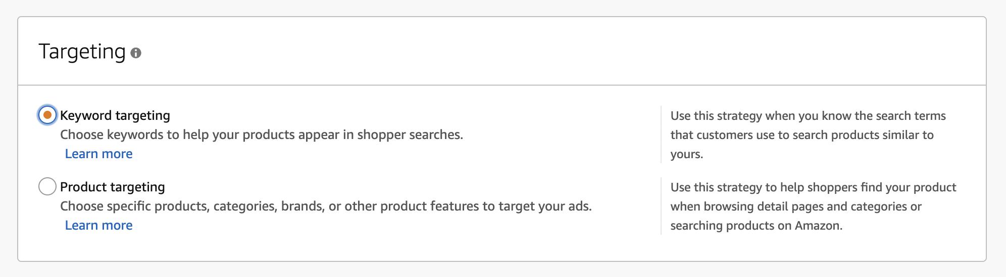 Target by keyword