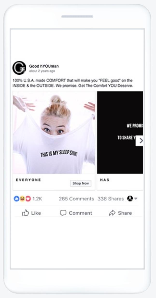 facebook ad type carousel ad 2
